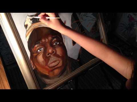 Painting Biggie Smalls and Tupac - YouTube Tupac And Biggie Painting
