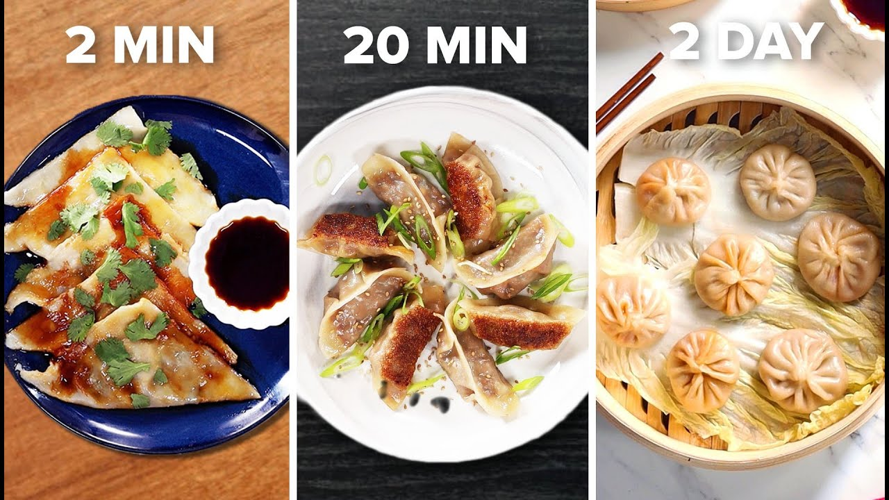2-Min Vs. 20-Min Vs. 2-Day Dumplings