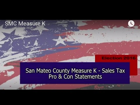 San Mateo County Measure K - sales tax