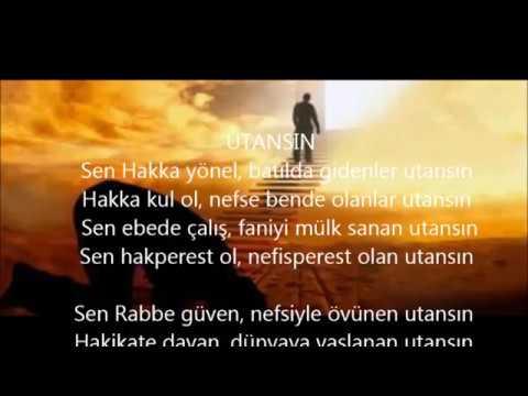 UTANSIN / ŞİİR / FON MÜZİKLİ