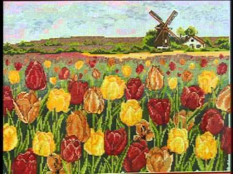 phong su tranh theu cross stitch.flv
