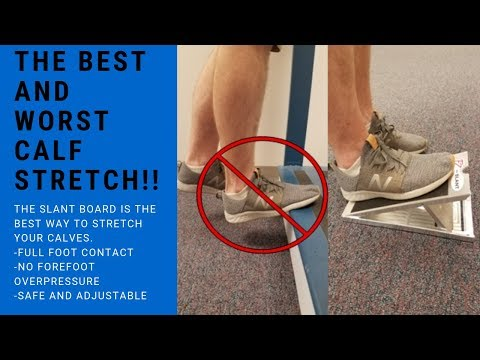 The BEST and WORST Calf Stretch!