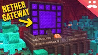 Making a NETHER GATEWAY in Minecraft 1.16!