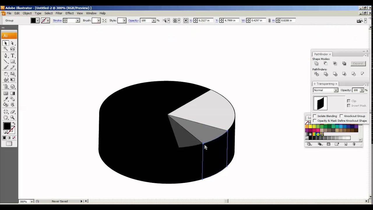 how to create a pie chart on illustrator