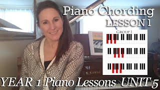 Piano Chording Lesson 1 - The 12 Major Chords - [5-1] Video 65  - Beginner Piano Chording Tutorial
