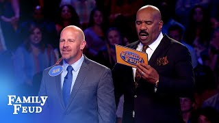 Adam is TWO POINTS away from $20,000!!!   Family Feud
