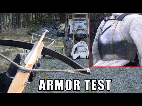 Medieval Crossbows vs. Breastplate and Lamellar Armor