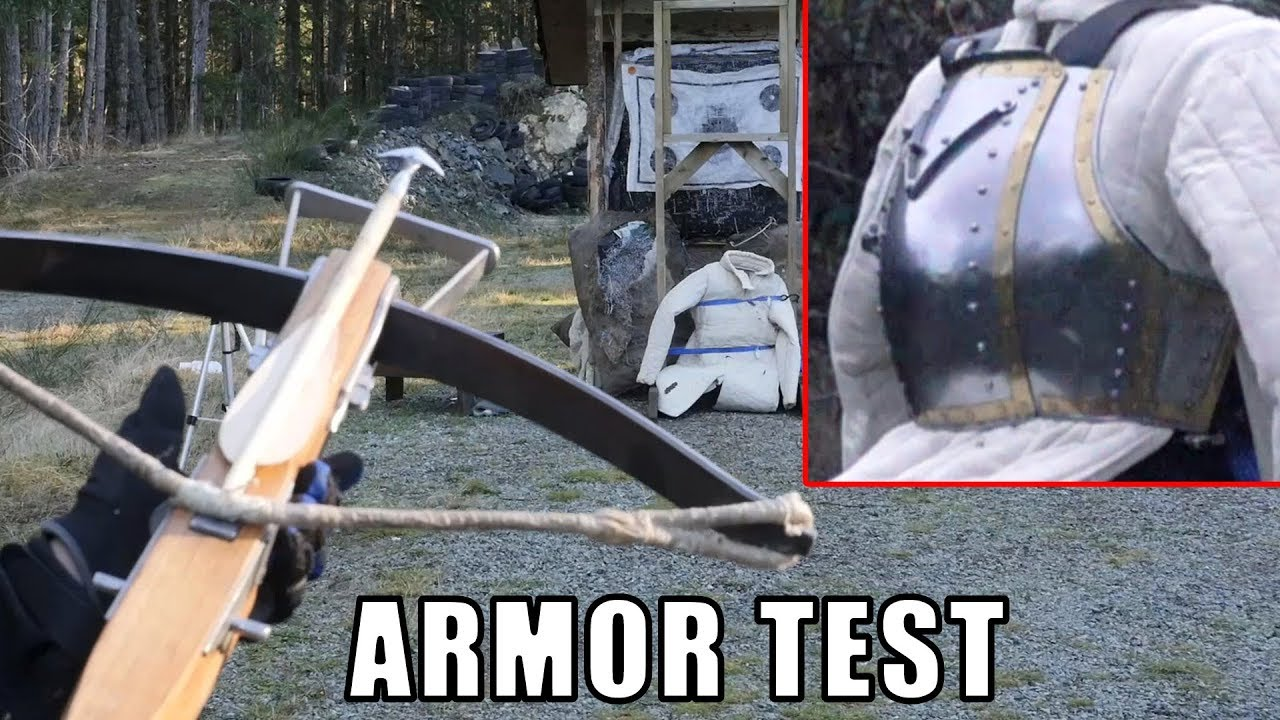 Medieval Crossbows vs  Breastplate and Lamellar Armor