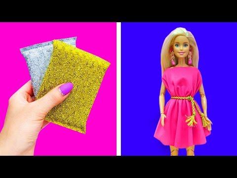 Barbie Doll Hacks. DIY How to Make Miniature Crafts