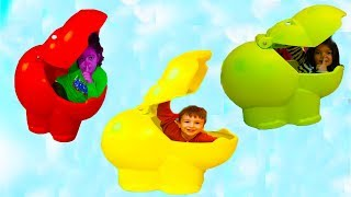 Masal Öykü and Little Baby Playing Hide and Seek - Funny Kids Video