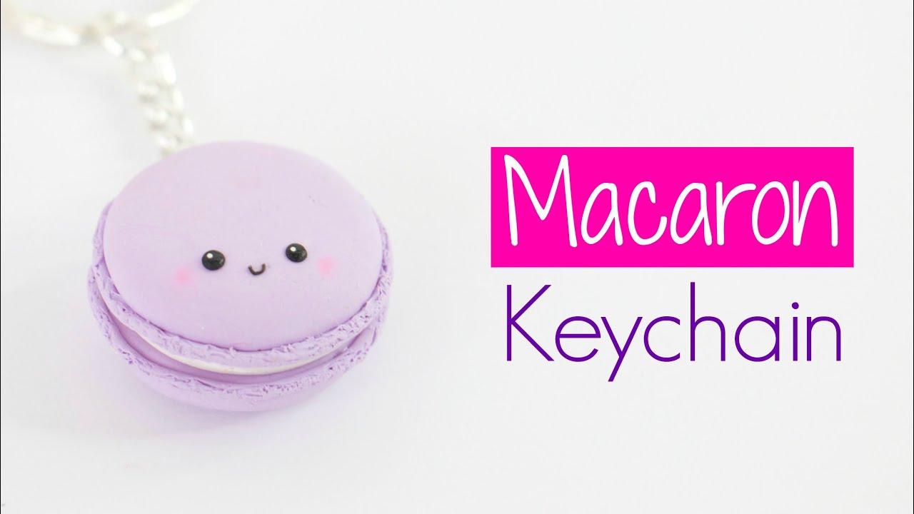 Kawaii Macaron Keychain Easy Diy Youtube