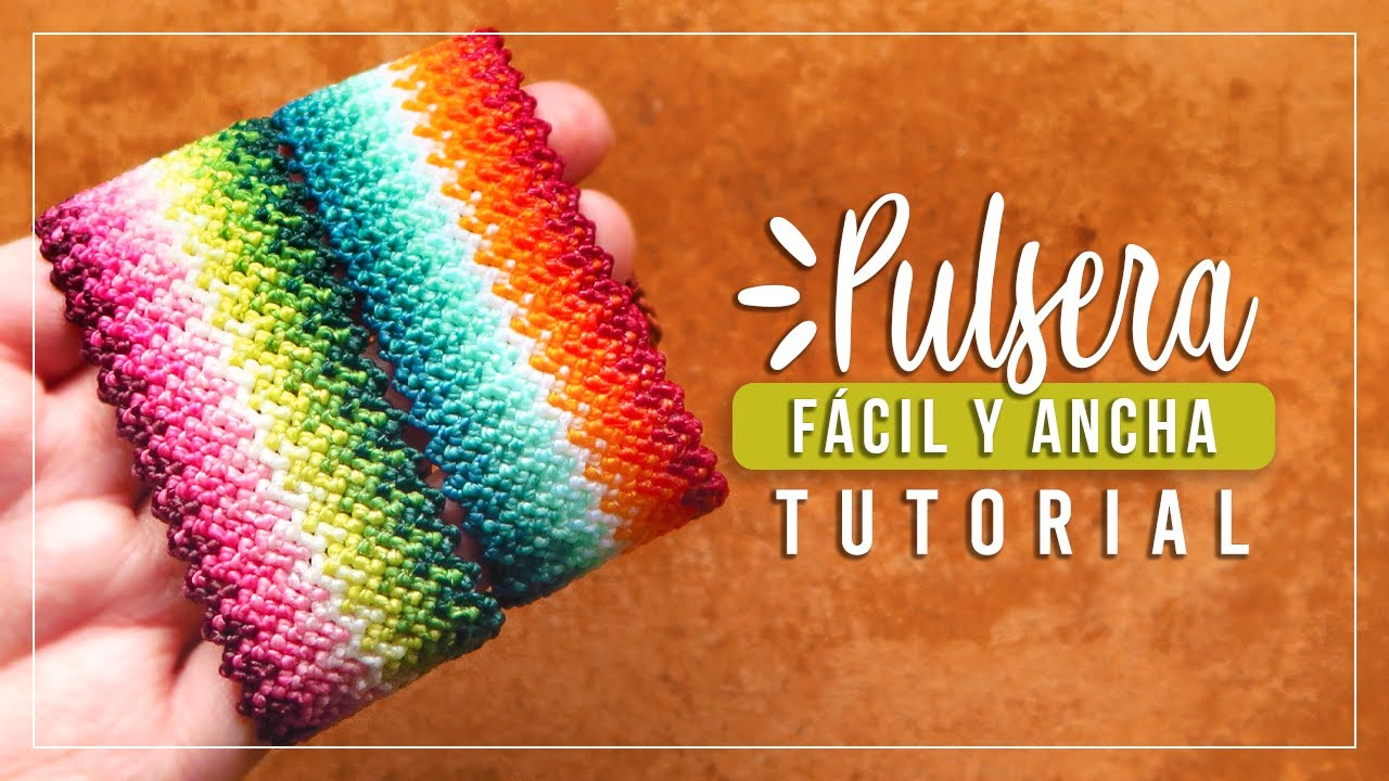 Cómo hacer pulsera de hilo fácil y ancha ✨ Paso a Paso | DIY Macrame Friendship Bracelet