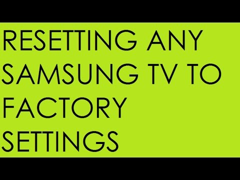 Resetting almost any Samsung TV to factory settings UPDATED (4K)