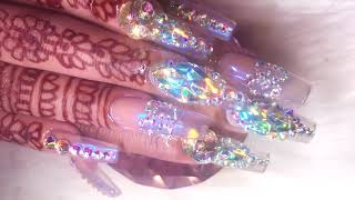 Quick & Detailed Bling Nails Application Tutorial