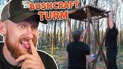 BUSHCRAFT TURM der Naturensöhne 🤗 Prepper Camp - Outdoor Bushcraft Lagerbau   Fritz Meinecke