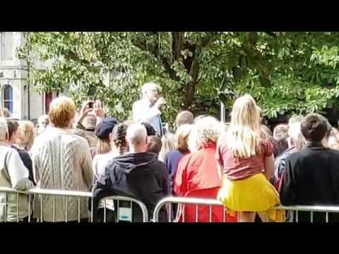 Jeremy Corbyn speaking in Bangor 19-08-17
