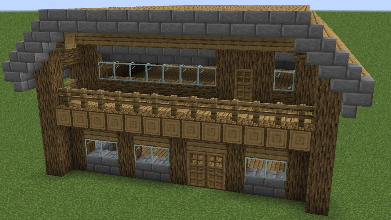 Minecraft - How to build a old wooden house