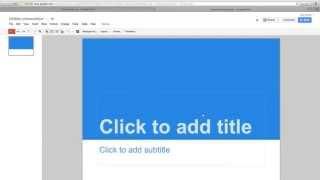 Google Drive'da Powerpoint Sunum Oluşturma