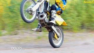Power of RM 250 2-STROKE Power acceleration wheelie.