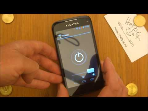 Alcatel OT-997D - демонстрация работы