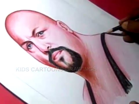 how to draw wwe superstar big show color drawing youtube