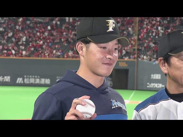 1点差を守りきって吉田輝星投手のプロ初勝利を援護!6/12 vs.カープ
