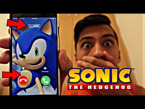 CALLING SONIC *OMG HE ACTUALLY ANSWERED*