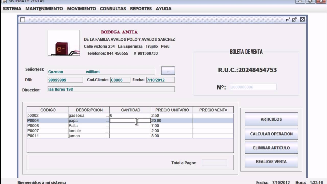 Sistema de Ventas en Netbeans 7 1 1 con SQL Server 2008 - YouTube c1e26a69be91