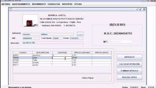 Sistema de Ventas en Netbeans 7 1 1 con SQL Server 2008