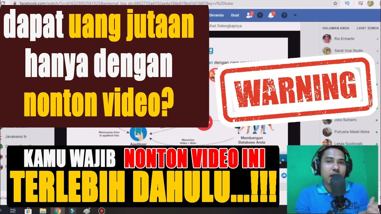 Viralll Hanya Nonton Video Dapat Uang Di Vtube Apk Penghasil Uang Simak Dulu Videonya Youtube