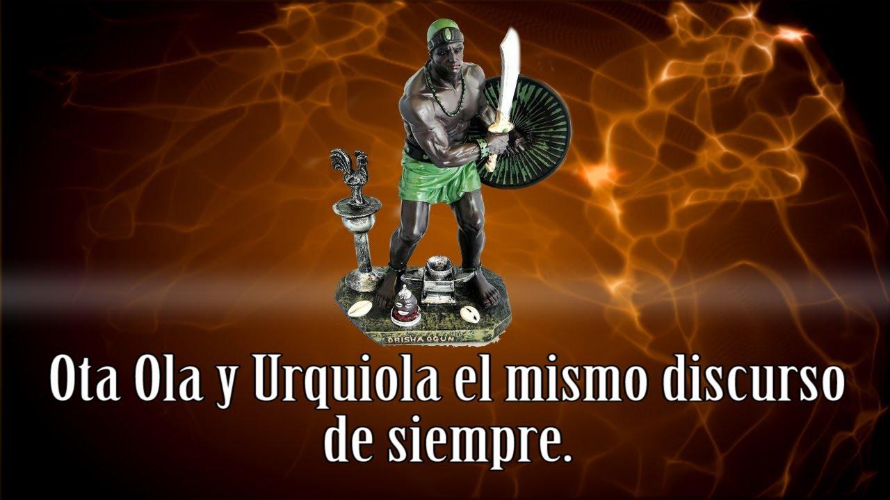 Ota Ola y Urquiola el mismo discurso de siempre. Cuba
