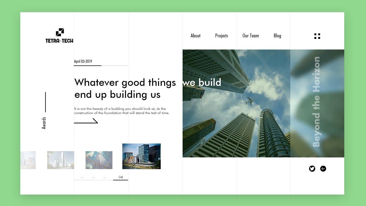 Website UI/UX Design Tutorial   Web Design In Adobe XD   Make Website UI Design