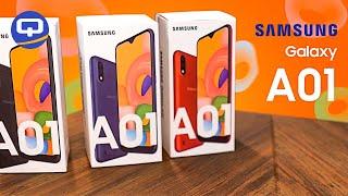 Samsung Galaxy A01, быстрый обзор. Cамый бюджетный  samsung/ QUKE.RU /