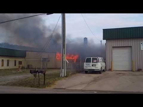 Industrial Timber Fire and explosion in Cleveland TN 3-11-14