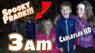Don't Tell GHOST STORIES at 3am!!! Pranked by Carlaylee HD!!! 3am Campfire!