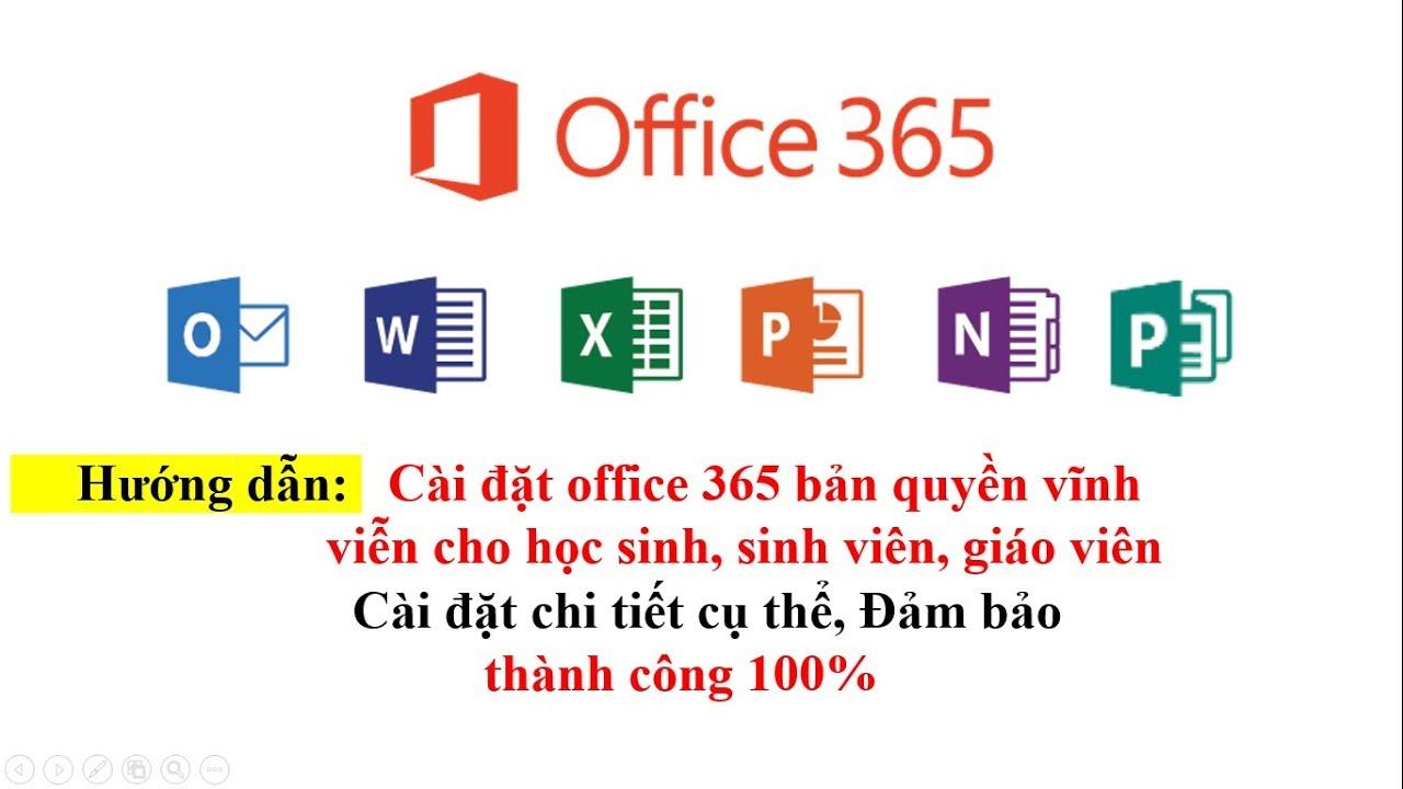 Hướng dẫn cài đặt office 365 miễn phí cho mọi người