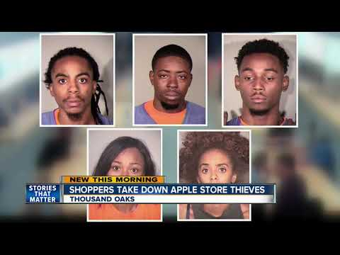 Shoppers help take down Apple store thieves