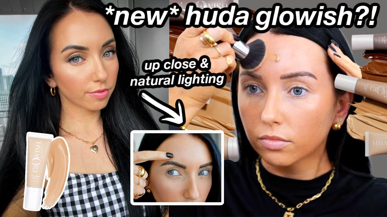 HUDA BEAUTY GloWish Multidew Skin Tint FOUNDATION REVIEW! ✨ Ultimate glow??