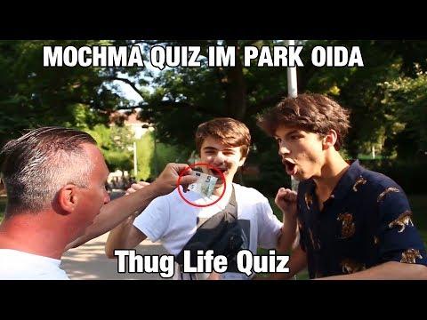 MOCHMA QUIZ IM PARK OIDA - Thug Life Quiz #1 - Wer wird Millionär Style