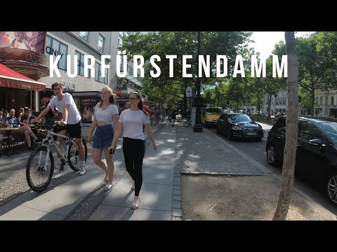 【4K】Day Walk At Kurfürstendamm, Berlin, Germany (Kudamm)