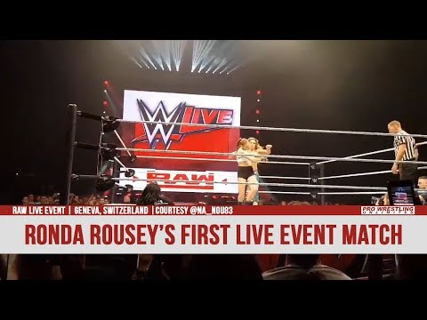 Ronda Rousey In Her First WWE Live Event Match In Switzerland (VIDEO)