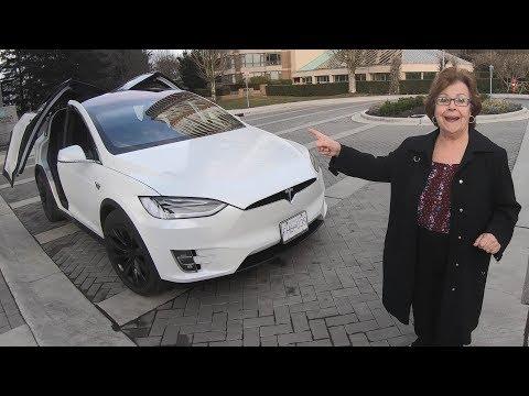 Grandparents React to Tesla Model X