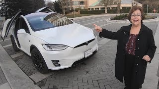 Grandparents React to Tesla Model X
