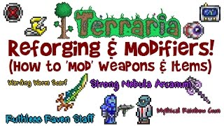 Reforge Guide for Terraria! How to mod weapons & items + best modifiers! (PC/IOS/Android/Xbox/PS4)