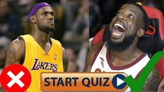 Are You A Lebron James Bandwagon Test/Quiz FAIL OR PASS Part 2! HARDEST LEBRON JAMES QUIZ EVER!