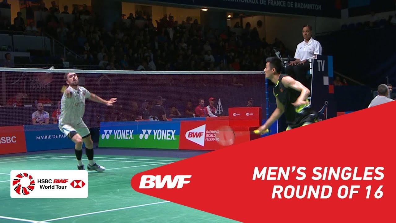 R16 | MS | CHEN Long (CHN) [6] vs Jan O JORGENSEN (DEN) | BWF 2018 - YouTube
