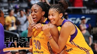 L.A. Sparks' Candace Parker and Nneka Ogwumike sit down with Molly Qerim | First Take | ESPN