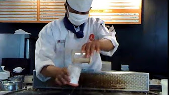 AFRICASIAEURO.COM/YOUTUBE Japanese chef cooks Ebi steak
