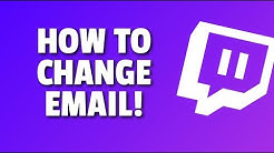 How To Change Email on Twitch