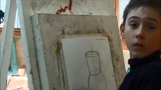 урок по рисунку 2класс ДШИ 10 лет.  II Часть. Конструктивное построение.